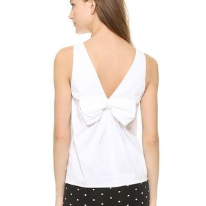 Red Valentino White Back Bow Sleeveless Top ▪️